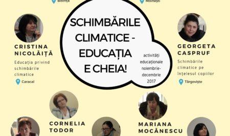 Schimbările climatice – educația e cheia!